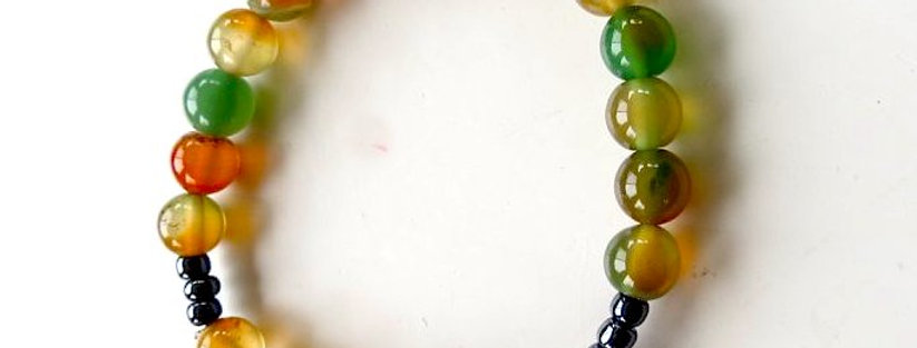 Multi-Colored Agate Bracelet