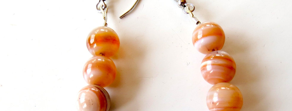 Swirled Agate Earrings