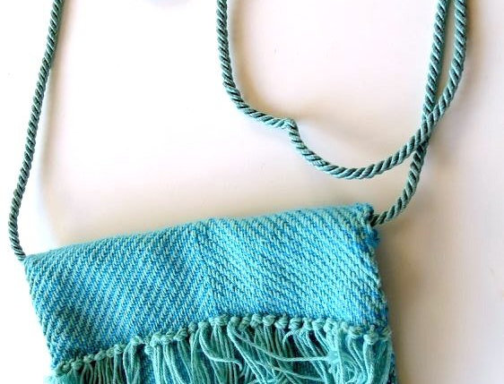 Handwoven Purse with Thin Strap