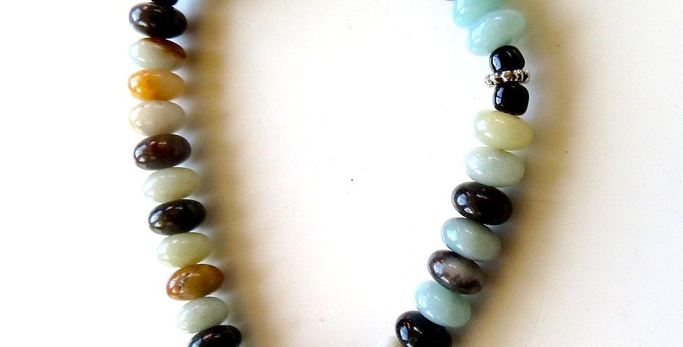 Black Gold Amazonite Rondelle Bracelet