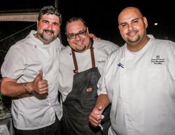 Chef Vivoni, Chef Ramos y Chef Hernandez