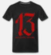 13 t-Shirt schwarz von jackseven customs