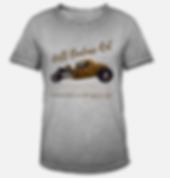 hell badass rat t-shirt vintage grau von