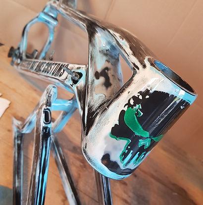 Fahrrad Carbon Rahmen im Vintage look la