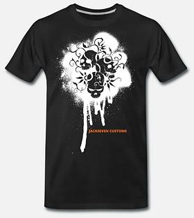 Graffiti Skulls T-Shirt schwarz von Jack