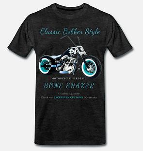 classic bobber style t-shirt schwarz von