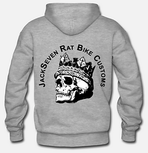 jackseven ratbike customs skull hoodie.P