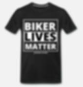 biker lives matter t-shirt schwarz von j