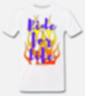 ride for life t-shirt weiss jackseven cu