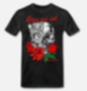 roses are red t-shirt schwarz von jackse