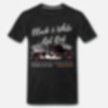 black white rat rod t-shirt schwarz von