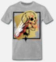 Indian skull t-shirt grau von jackseven