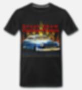 great show customs flames T-shirt schwar