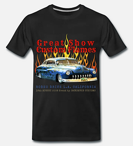 great show customs flames T-shirt schwar