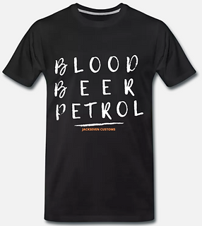 blood beer petrol tshirt von jackseven c