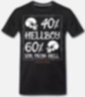 Hellboy t-shirt schwarz von jackseven cu