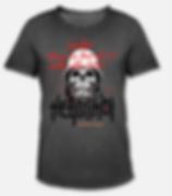 laechle! T-Shirt schwarz Biker Skull Tot