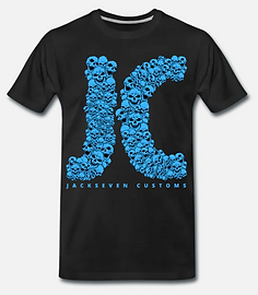JA Jackseven Customs T-Shirt schwarz Tot