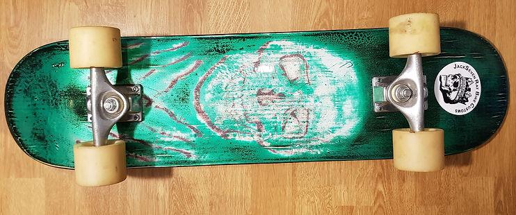 patina lackierung skateboard jackseven r