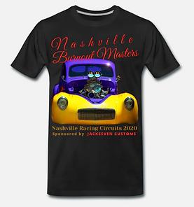 burnout masters nashville t-shirt von ja