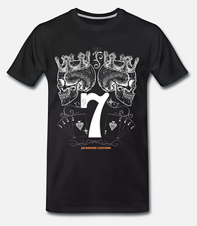 lucky 7 t-shirt schwarz jackseven custom