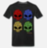 4 flower skull T-Shirt schwarz von jacks