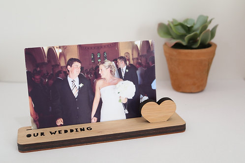 Photo Stand - Small - Our Wedding