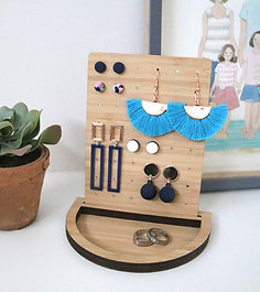 Trinket & Jewellery Tray with Earring Board