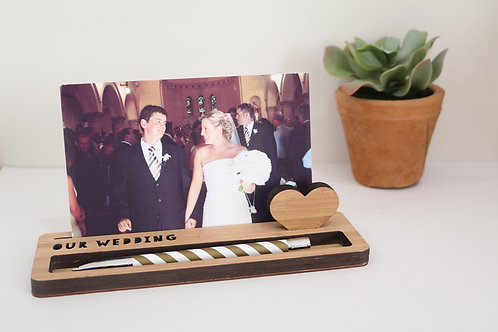 Photo Stand - Medium - Our Wedding