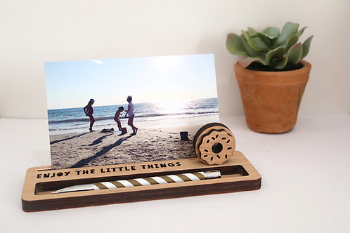 Photo Stand - Medium - Enjoy the little things