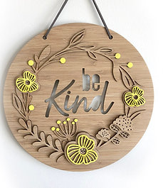"""Wall Hanging """"Bloom"""" - Be Kind"""
