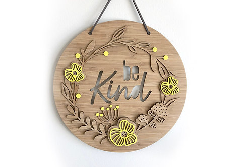 "Wall Hanging ""Bloom"" - Be Kind"