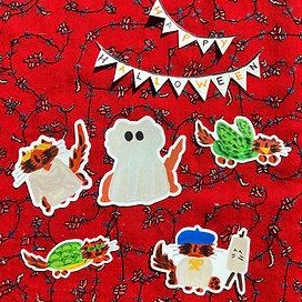 Halloween Party Sticker Set