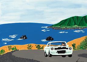 Coastal Road Art Print