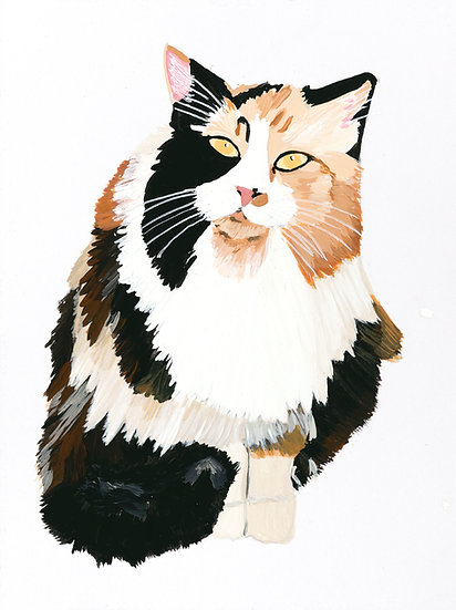 Calico Cat Art Print