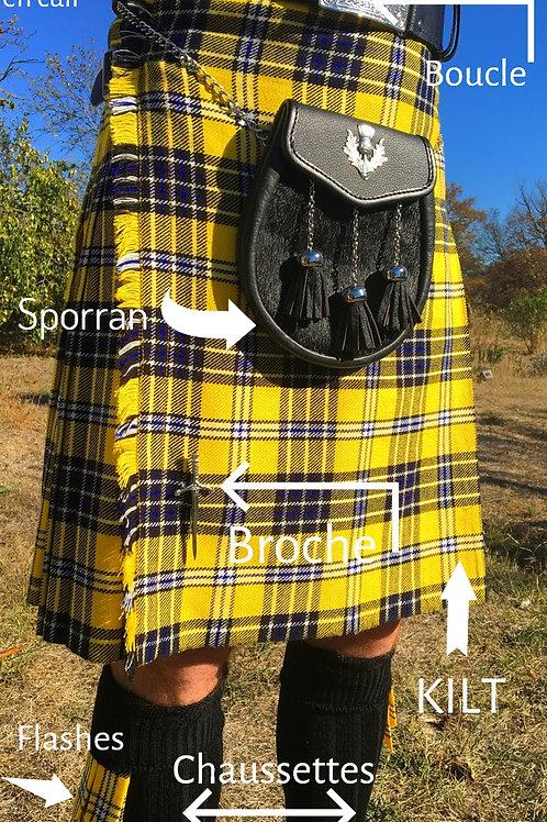 Kilt complet (kilt et accessoires) SVP mesurer autour de votre nombri en cm