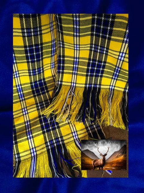 Echarpes jaunes et bleus