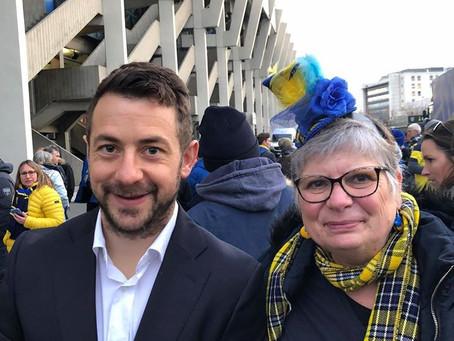 Carole Joly et Greig! (echarpe et chapeau 'La Petite Ecosse')