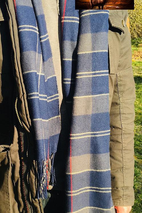 écharpe bleu