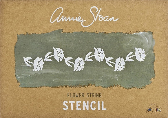 Flower String, A4 stencil by Annie Sloan