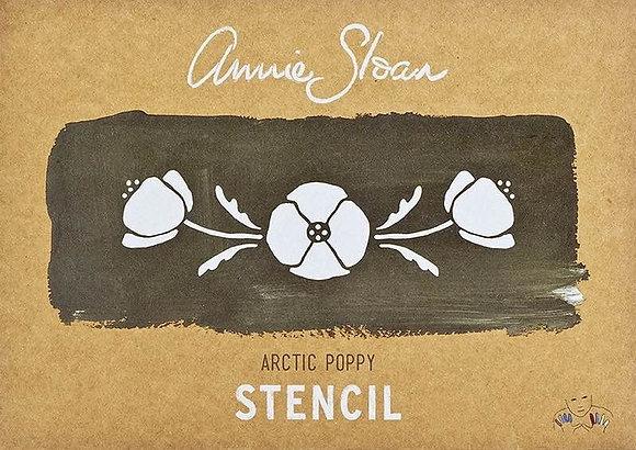 Artic Poppy, A4 Stencil by Annie Sloan