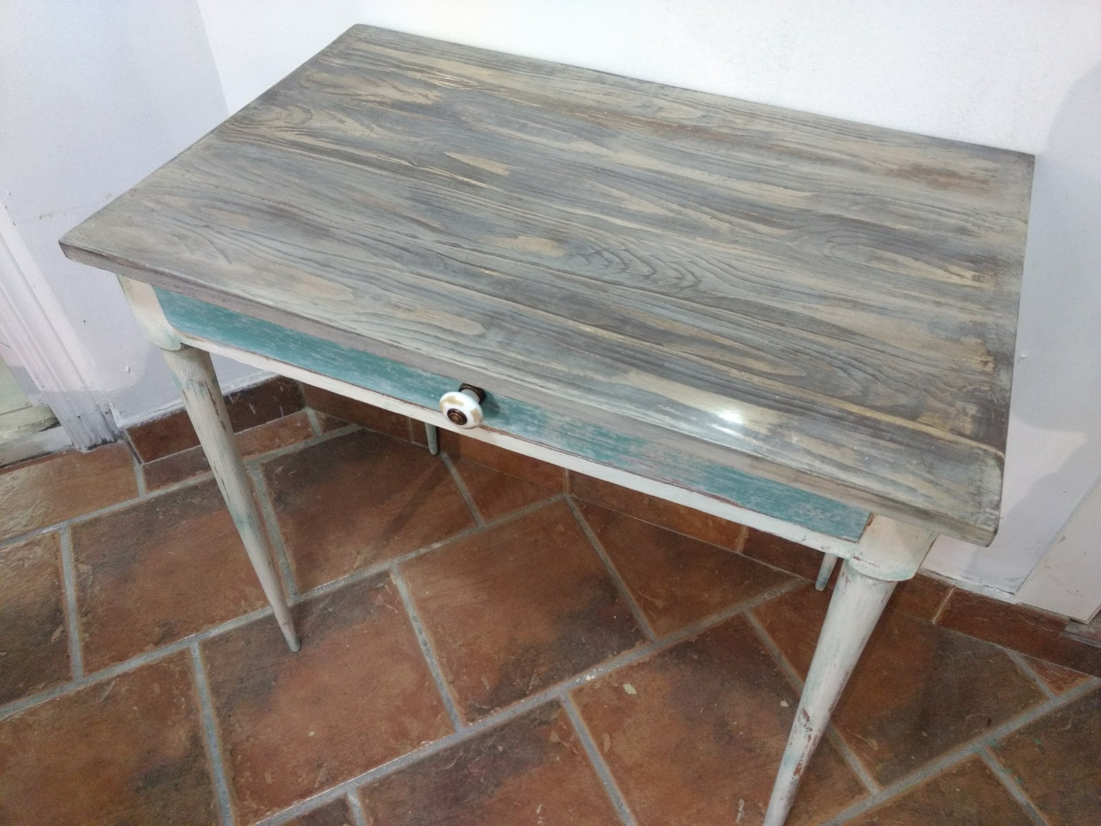 Mesa veteado Chalk Paint