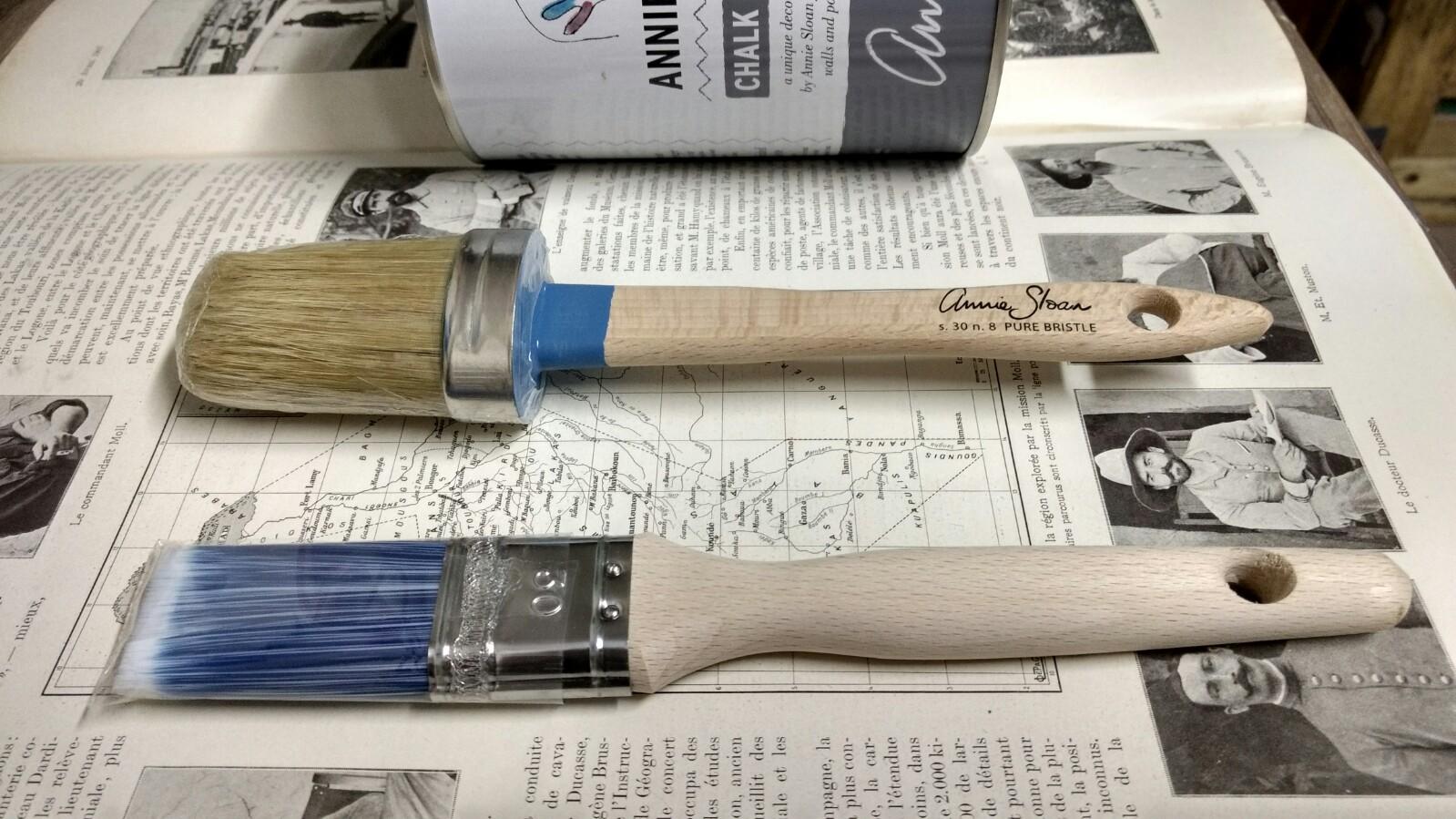 ¿Que tipo de brochas usamos para trabajar con Chalk Paint Annie Sloan? -   TRATE Tienda Taller - Chalk Paint - Annie Sloan