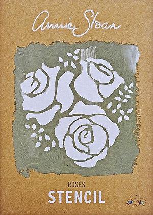 Roses, A4 Stencil by Annie Sloan