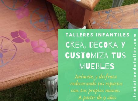 Talleres infantiles crea, decora y customiza tus espacios