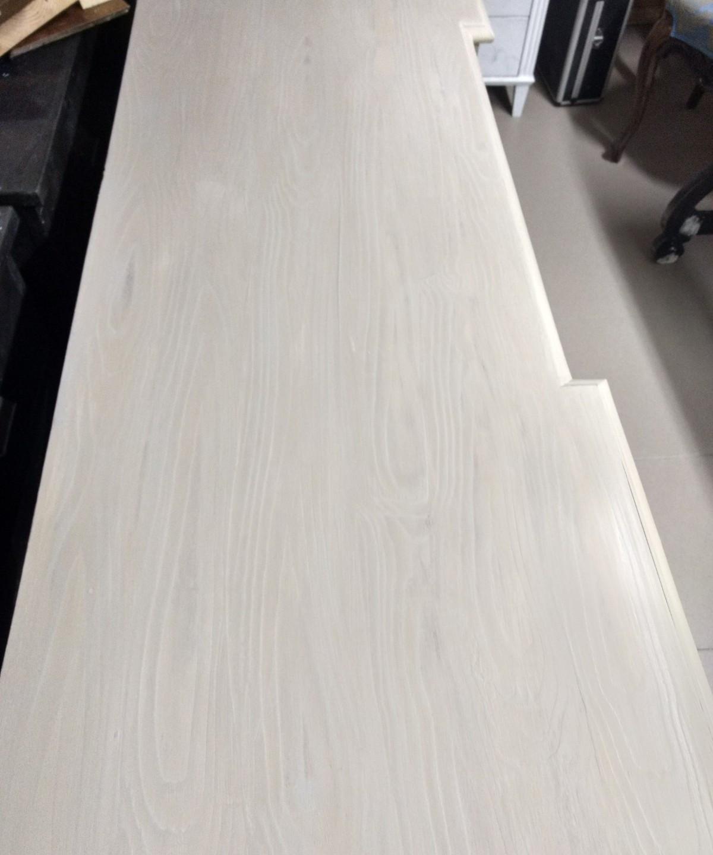 Veteado imitación madera con Chalk Paint Annie Sloan, country grey , paris grey y duck Egg Blue y acabado en Soft wax clear  - TRATE Tienda Taller - Bilbao