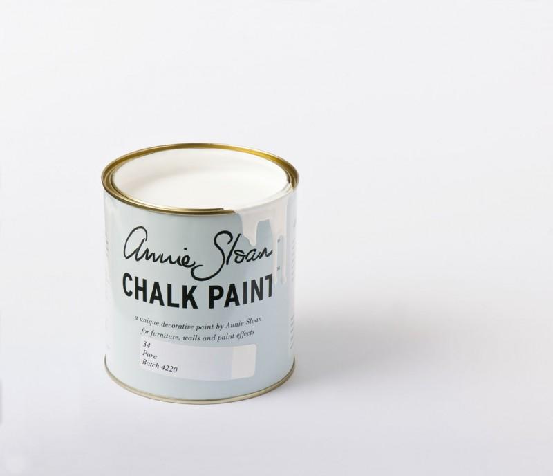 Pure Chalk Paint Annie Sloan, blanco con mucha luz - TRATE tienda Taller
