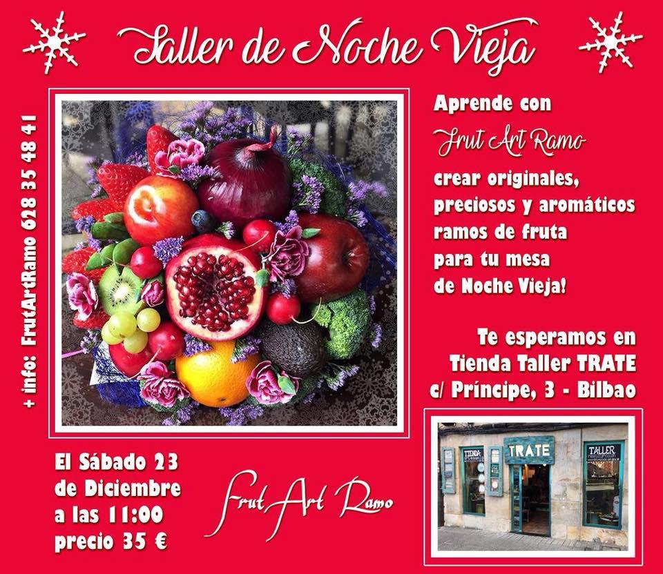 El proximo sábado 23 a partir de las 11:00 en Trate Tienda Taller crea tu propio ramo de frutas de la mano de Frut Art Ramo