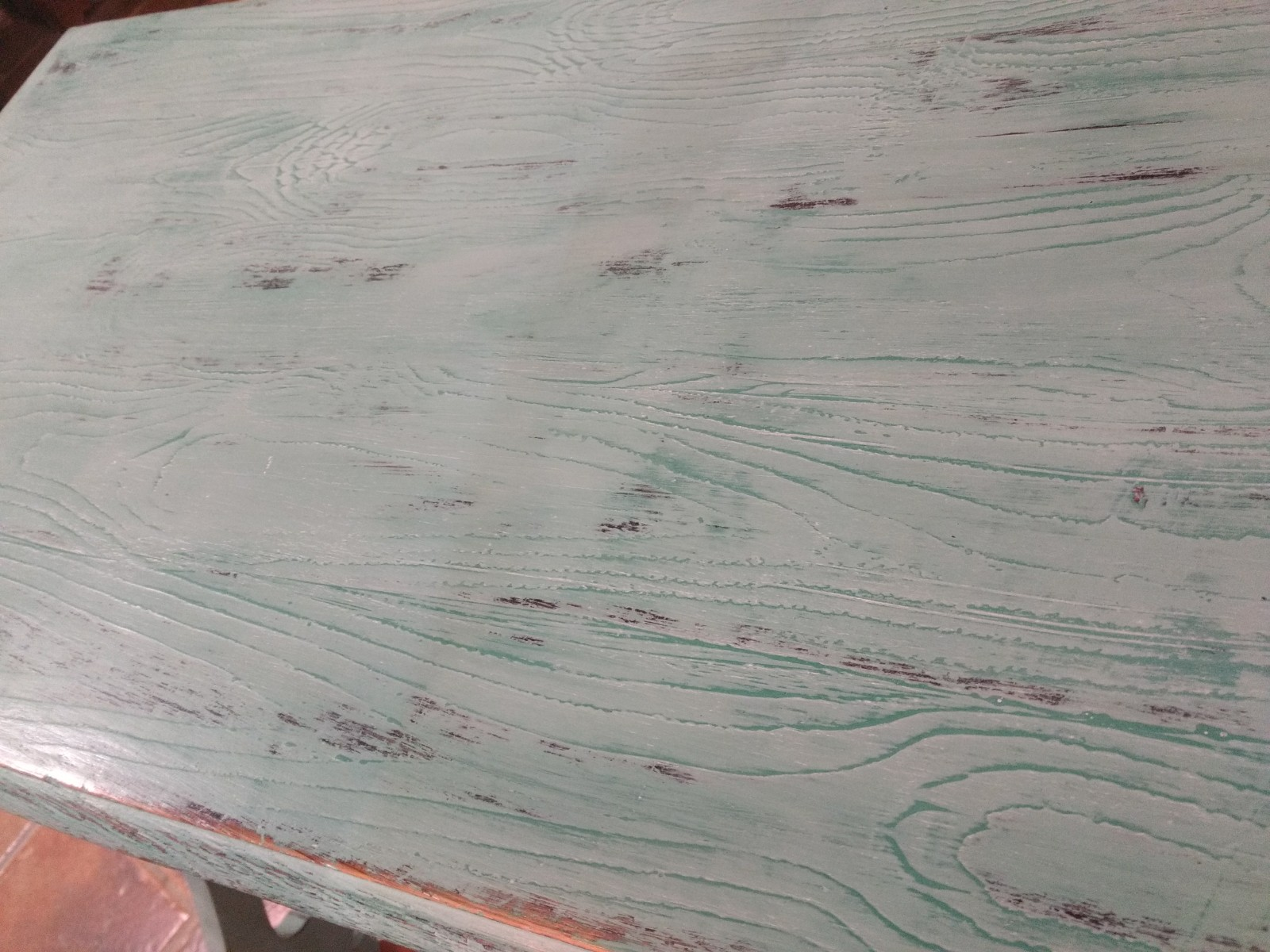 Veteado imitación madera con Chalk Paint Annie Sloan, provence, florence. Soft wax clear y white - TRATE Tienda Taller - Bilbao