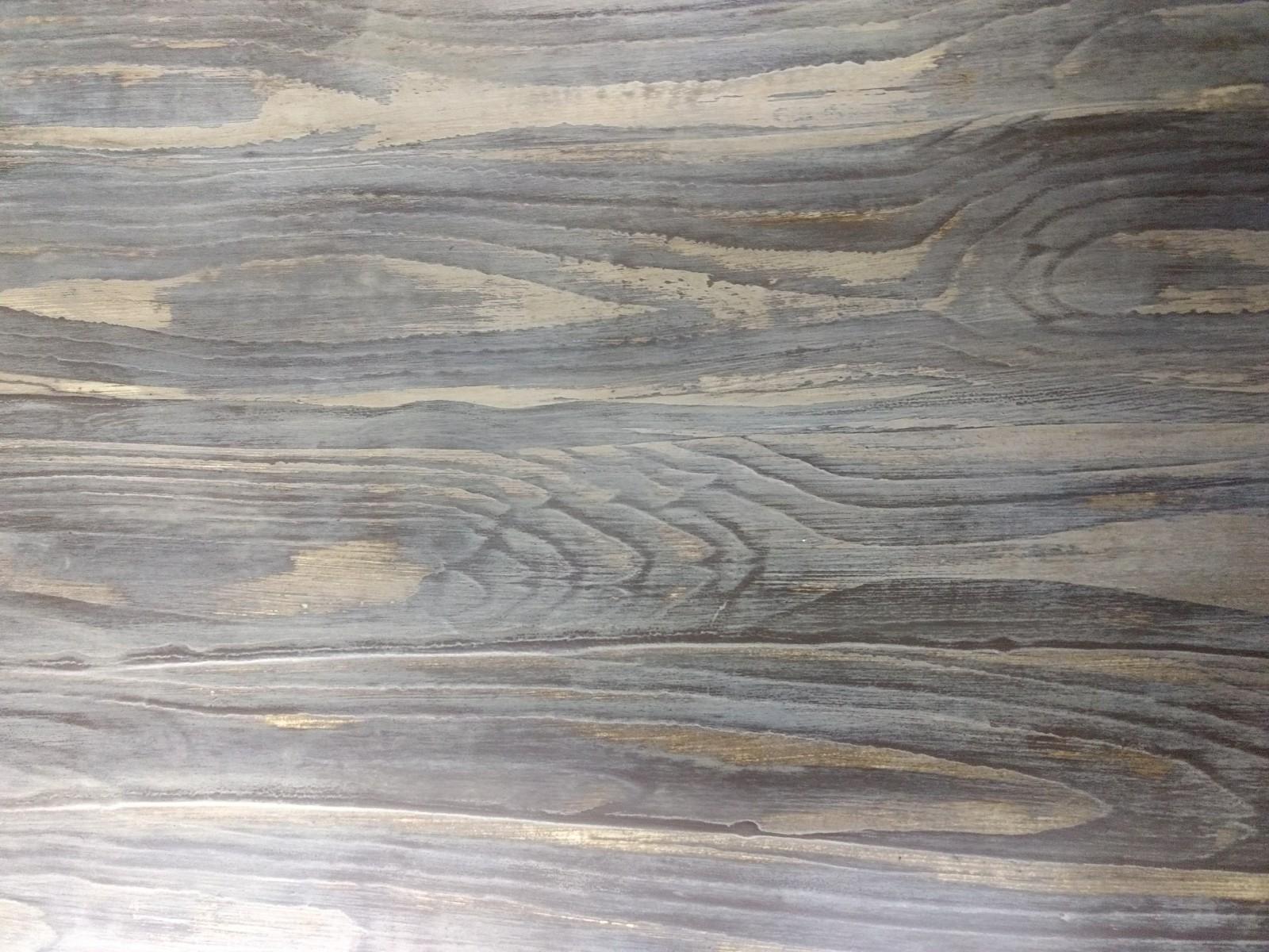 Veteado imitación madera con Chalk Paint Annie Sloan, country grey, honfleur. Soft wax clear y dark - TRATE Tienda Taller - Bilbao